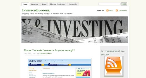 InvestorBlogger Blogs About Investing