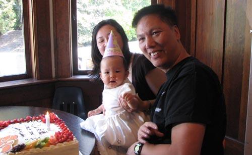 sally chow's first birthday
