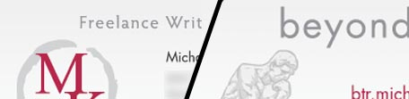 michael kwan freelance writing services business card design