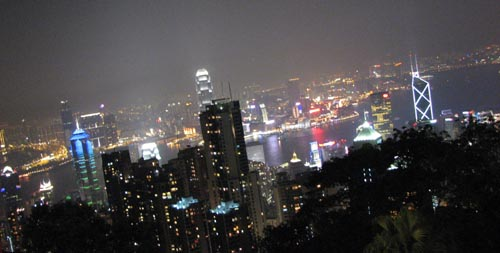 on top of hong kong - cityscape