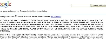 New Adsense TOS Requires Privacy Policy