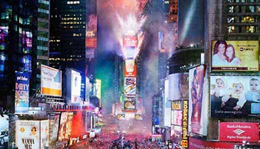 New Years Eve in Times Square, New York City
