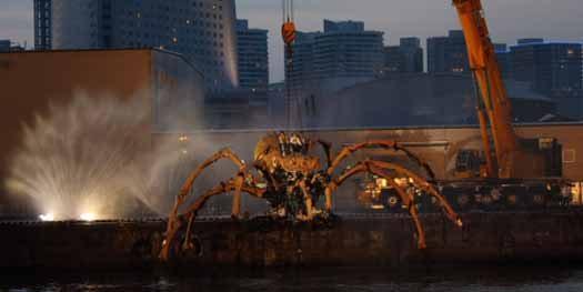 Giant Mechanical Spiders Attack Yokohama