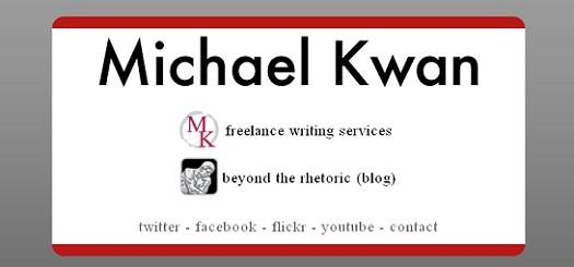 New MichaelKwan.com - Business Card Style