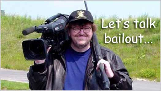 Michael Moore Talks Bailout in Capitalism (2009)