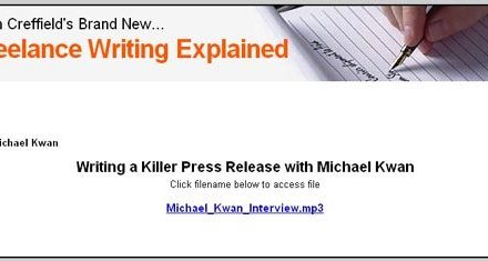 Freelance Writing Explained with Alan Creffield