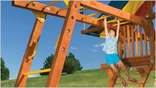 Monkey Bars and Learning to Let Go