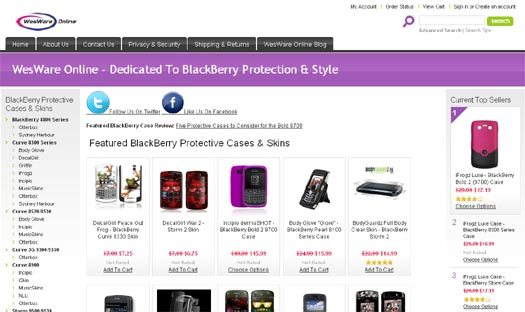 Protect Your BlackBerry with WesWare Online