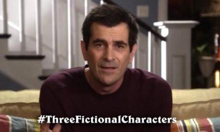 My #ThreeFictionalCharacters