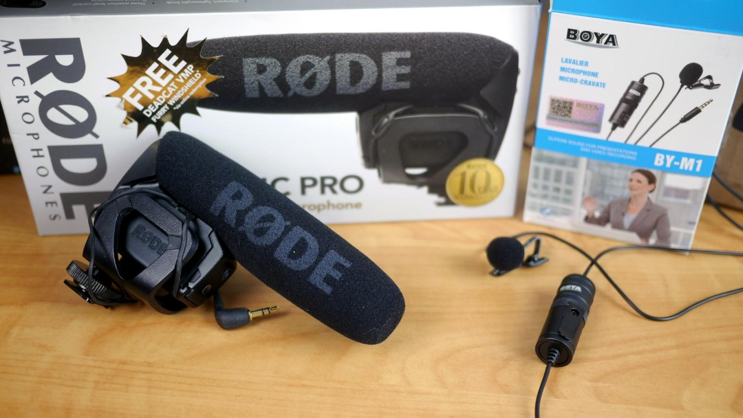 Rode VideoMic Pro vs. Boya BY-M1 lavalier microphone