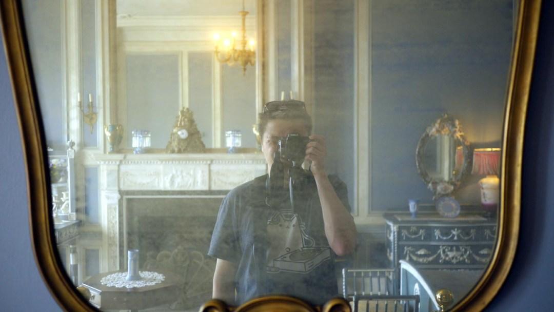 Man in the mirror at Casa Loma