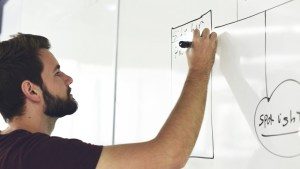 Diagramming on a whiteboard