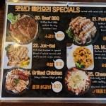Masita Korean Restaurant menu