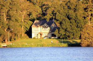 Beautiful House at LSU Lakes Baton Rouge Walking