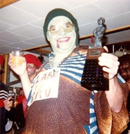 So, there was this Halloween party... I have my glass and my Manneken Pis battery operated decanter...