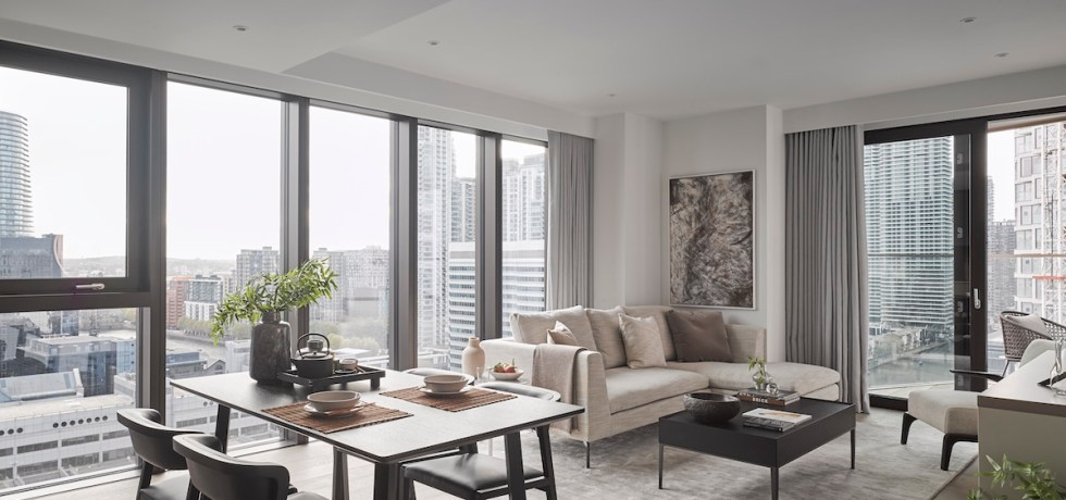 Lounge at 10 George Street Build to Rent scheme