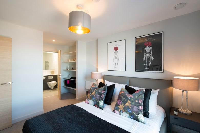 Bedroom at the Duet Build to Rent scheme, MediaCityUK