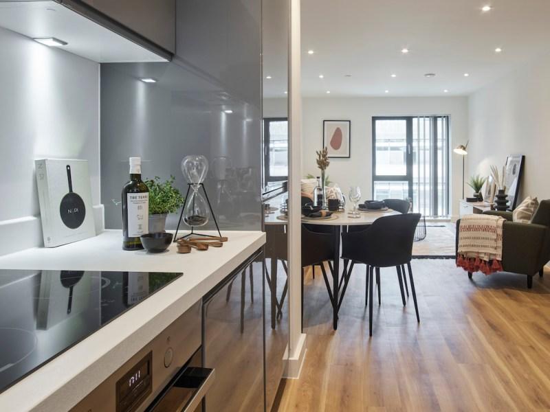 Kitchen/lounge, BTR scheme, Ilford