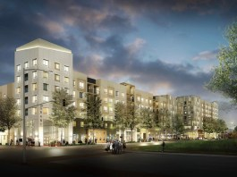 The Grant multifamily development - external view