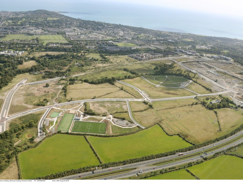 Aerial view of Cherrywood Village land - Quintain | BTR News