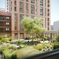 Assael Architecture's CGI of Connected Living London's Southall development - courtyard view | BTR News