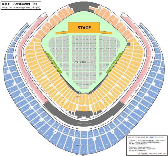 東京ドーム 座席表 コンサート