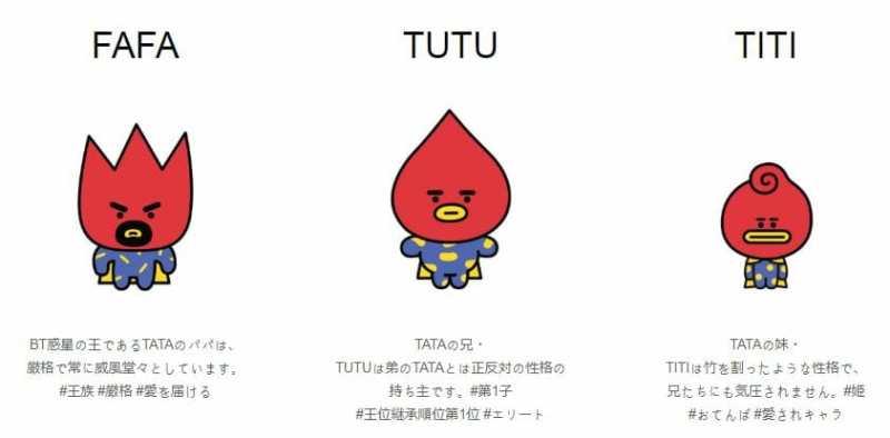 TATA 新キャラクター BT21