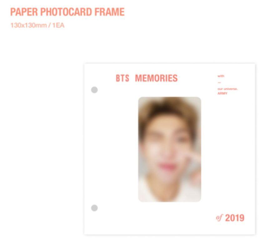 BTSメモリーズ 2019 フォトカードフレーム