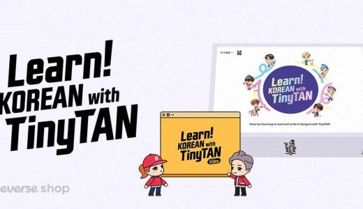 Learn! KOREAN with TinyTAN登場・教材とVOD【韓国語学習初級】・ラーンコリアンシリーズまとめ