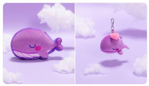 紫クジラのクッション・キーリング発売【TinyTAN】