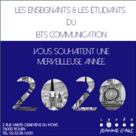 Carte voeux BTS Communication Jeanne d'arc Rouen