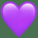 【絵文字】紫色のハート Purple Heart