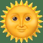 【絵文字】太陽 Sun with Face