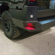 Finished rear bumper with steps and LEDs