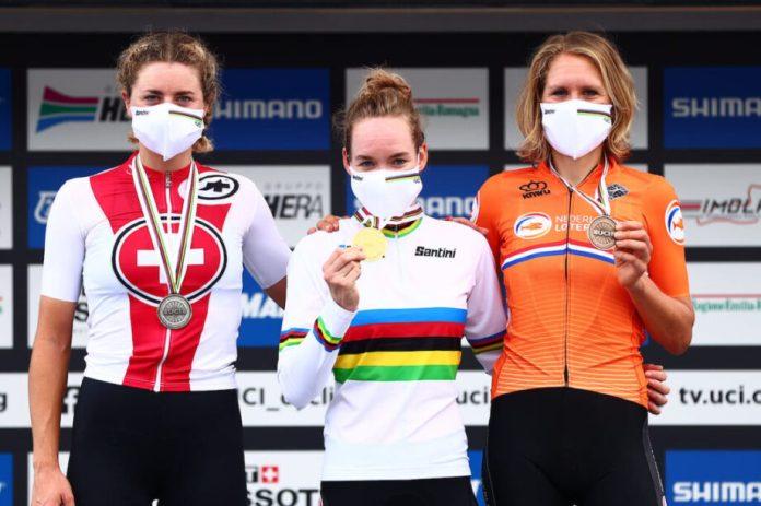 Campeonato Do Mundo De Estrada Anna Van Der Breggen Sagra-Se Campeã Mundial De Contrarrelógio