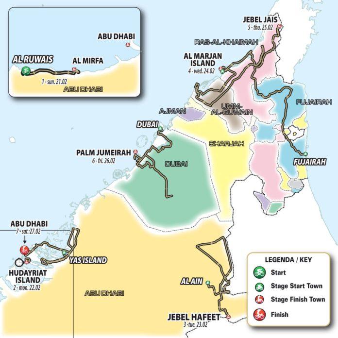 Revelado O Percurso, Jerseys E Patrocinadores Do Uae Tour 2021