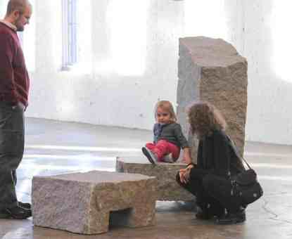 Richard Nonas' 'The Man in the Empty Space' opens at Mass MoCA. Photo by Nooshig Varjabedian, Courtesy of Mass MoCA