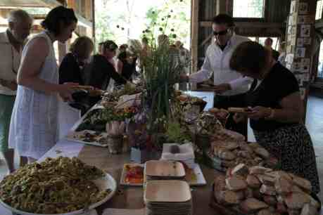 Visitors gather for a country dinner at the Marble House. Photo courtesy of Marble House Project