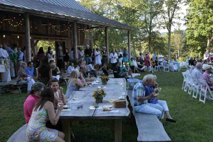 The Marble House serves dinner on a summer evening. Photo courtesy of Marble House Project