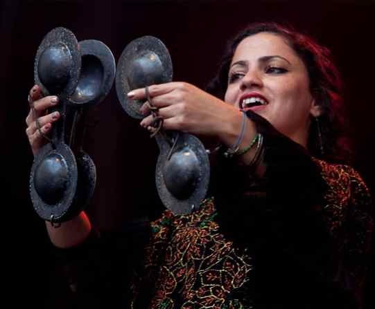 Emel Mathlouthi will perform at MCLA on March 31. Image courtesy of Emel Mathlouthi