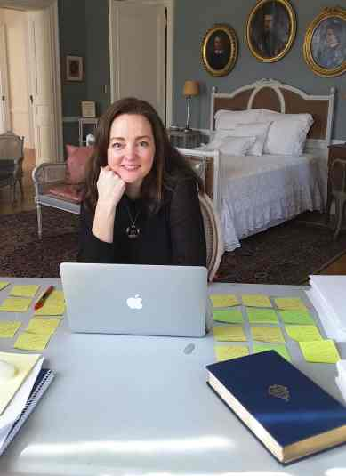Claire McMillan put finishing touches on a novel in a writing residency at The Mount. Phot courtesy of The Mount