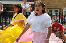Young dancers perform in the traditions of the Festival Latino on July 4 in Pittsfield. Courtesy photo by Susan Geller