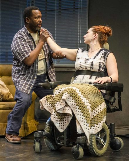 Wendell Pierce and Katy Sullivan appear in Martyna Majok's 'Cost of Living' at Williamstown Theatre Festival. Photo by Daniel Rader, courtesy of Williamstown Theatre Festival