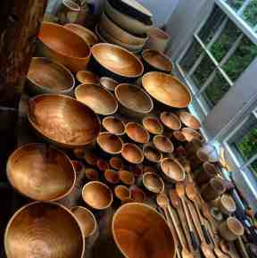 Aubry Woodworks carved bowls, courtesy of the Holiday Shindy