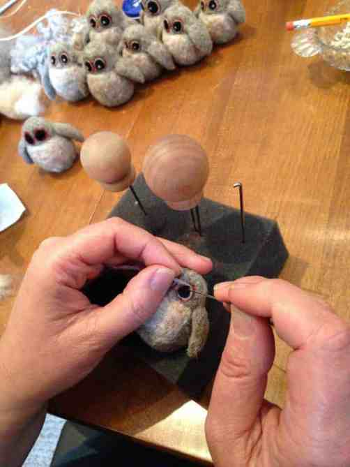 Going Gnome hand-felted owls, courtesy of the Holiday Shindy