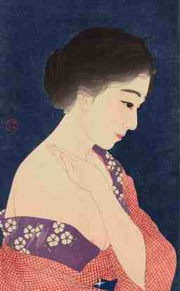 Torii Kotondo, Girl Applying Makeup, 1929. Courtesy of the Clark Art Institute