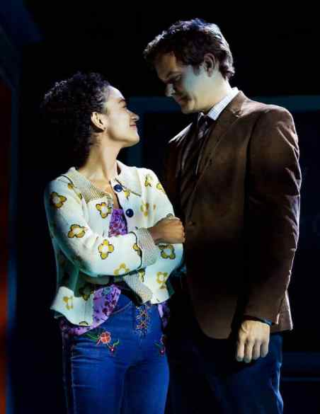 Lauren Ridloff and Joshua Jackson perform this summer with Berkshire Theatre Group in Children of a Lesser God: Sarah, a woman deaf from birth, loves the buoyabnt clarity of sign, and she meets James, a speech therapist, at a school for the deaf. Photo by by Matthew Murphy courtesy of Berkshire Theatre Group