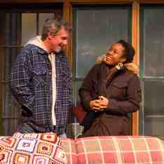 Lynnette R. Freeman and Quentin Maré appear in Lost Lake. Photo by Emma Rothenberg-Ware, courtesy of Berkshire Theatre Group