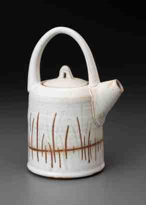 Hilltown artist Tiffany Hilton's glazed teapot gives a flavor of the open studios in the Asparagus Valley Pottery Trail.