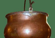 Ketel Koperen Ketel Koper Glanzend Koken Brand